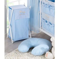 kosz na bieliznę wesołe zajączki w błękicie marki Mamo-tato