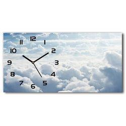 Zegar ścienny szklany Chmury z lotu ptaka