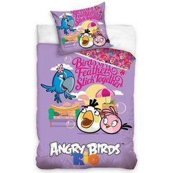 Tip Trade Dziecięca bawełniana pościel Angry Birds Friends, 140 x 200 cm, 70 x 80 cm