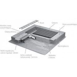 Narożnik uszczelniający wewnętrzny do brodzików podpłytkowych Radaway 60x120mm 1szt. 5NW01 - sprawdź w w