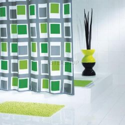 Up&down poliestrowa zasłona prysznicowa, zielony 180x200cm 42935 marki Ridder