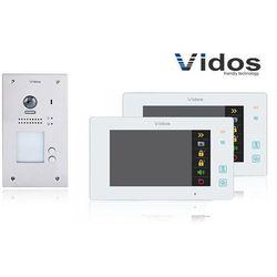 Zestaw cyfrowy wideodomofon dwurodzinny s1202a_m1021w biały marki Vidos
