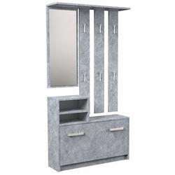 Producent: elior Industrialna garderoba z szafką na buty salma - beton