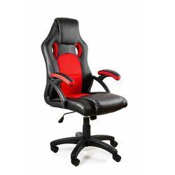 Fotel gamingowy, biurowy, dynamiq v7, czarny, czerwony marki Uniquemeble