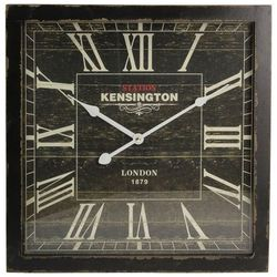 Dekoria zegar ścienny london black 40x6x40cm, 40x6x40cm
