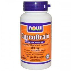 Now Foods, CurcuBrain, Cognitive Support, 400 mg, 50 Veggie kaps (lek pozostałe leki i suplementy)