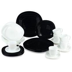 Mäser Luminarc 30-częściowy serwis obiadowy carine, czarno-biały