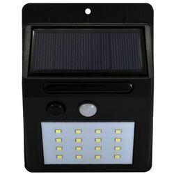 Solarna LAMPA zewnętrzna BOX 307637 Polux elewacyjna LAMPA ogrodowa LED 5,5W z czujnikiem zmierzchowo ruchowym IP44 czarny