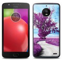 Foto Case - Motorola Moto E4 - etui na telefon Foto Case - purpurowe drzewo