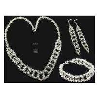 Arande Swarovski piękny komplet crystal srebro ślub