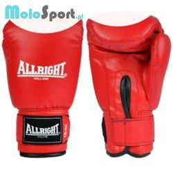 Rękawice bokserskie  pvc czerwono-białe, marki Allright