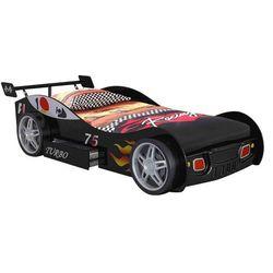 Łóżko w kształcie samochodu RUNNER z szufladą - 90 × 200 cm - Czarny