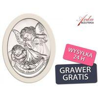 Valenti & co Dewocjonalia - srebrny obrazek na pamiątkę chrztu świetego