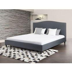 Łóżko szare - 160x200 cm - łóżko tapicerowane - MONTPELLIER (łóżko)