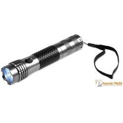 Aluminiowa latarka LED z gumowanym uchwytem, kompasem MAIN (2010000156711)