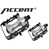 Accent 600-10-42_acc pedały mtb  basic aluminiowo-stalowe, łożyska kulkowe, srebrno-czarne (5906720809396)