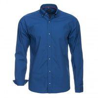 Ciemnoniebieska koszula z tkaniny popelina