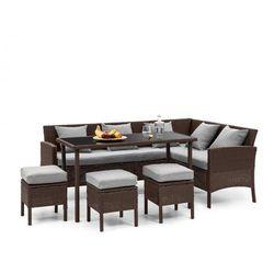 Blumfeldt titania dining lounge set komplet mebli ogrodowych brązowy/jasnoszary (4060656193910)