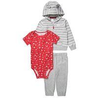 Carter's SET Body grey/white/red z kategorii body niemowlęce