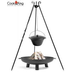 Cook&king Kociołek żeliwny 11l na trójnogu + palenisko bali 70cm