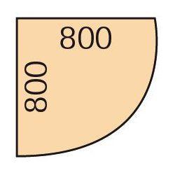 B2b partner Narożna dostawka do stołu biurowego, 80x80 cm, orzech