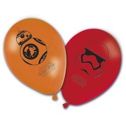 Balony urodzinowe star wars - the force awakens - 28 cm - 8 szt marki Procos