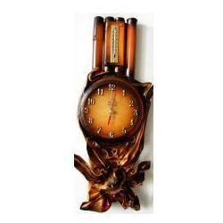 Zegar scienny w skórze - bambus - b9t-1 marki Art deco