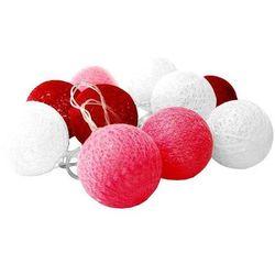Świecące kule led, biało-czerwony Cotton Balls