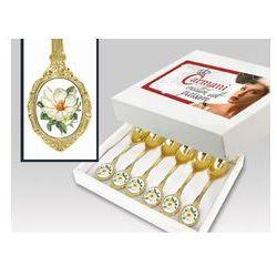 Zestaw gold 6 łyż Magnolia box
