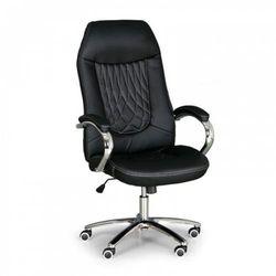 Krzesło biurowe superior w skórze, czarne marki B2b partner