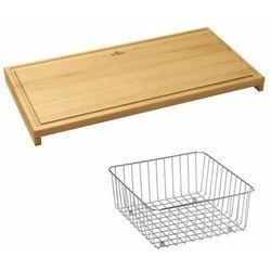 Villeroy & boch zestaw deska + koszyk 8k461000 >>odbierz rabat nawet do 300 pln<<