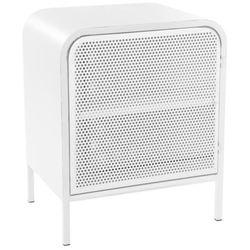 Szafka z 2 półkami ALEXY, metalowa - kolor biały