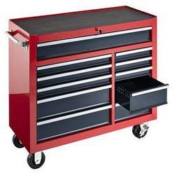 Wózek warsztatowy, wys. x szer. x głęb. 1007x1067x458 mm, 11 szuflad, czerwony. marki Seco