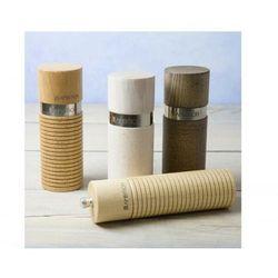 AMBITION Młynek do pieprzu i soli drewniany 15 cm biało-szary Ring 229706