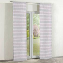 Dekoria Zasłony panelowe 2 szt., różowo-szary, 60 × 260 cm, Rustica do -30%