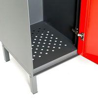 Szafa ubraniowa Create Energy 2 sekcje 1200x800 mm szary korpus czerwon