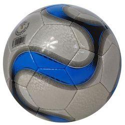 Piłka nożna master - srebrny/niebieski od producenta Axer sport