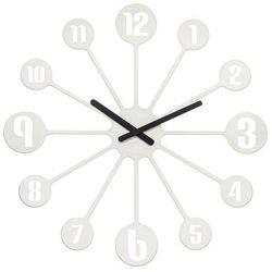 Zegar ścienny Pinball biały, 2341525
