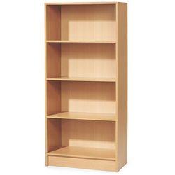 Regał biurowy adeptus, 4 półki, 1725x805x415 mm, fornir, buk marki Aj produkty