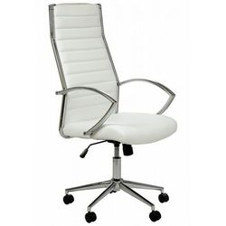 Fotel gabinetowy NE-637 biały - biurowy, obrotowy - krzesło obrotowe