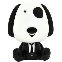 Sanico Lampka nocna dziecięca zwierzak polux piesek 1x2,5w led czarno-biała, 3 poziomy świecenia 307668