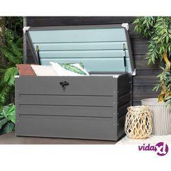 skrzynia ogrodowa stalowa 132 x 62 cm szara cebrosa marki Beliani