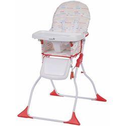 Safety 1st składane wysokie krzesełko keeny red lines, białe (3220660280995)