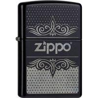 Zapalniczka ZIPPO Logo Pattern Classic, Black Matte (Z26673) z kategorii Zapalniczki