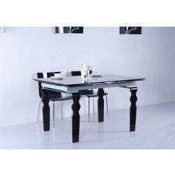Stół szklany VENDOME BLACK 200/300, kolor czarny