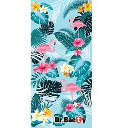 Dr.bacty l tropical szybkoschnący ręcznik treningowy - tropical