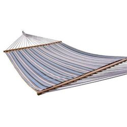 Pikowany hamak Sunbrella z drążkiem dwuosobowy, niebiesko-biały SUN2 - produkt z kategorii- Hamaki i siedziska