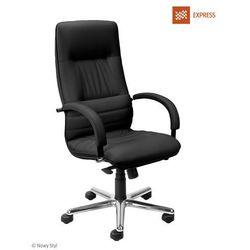 Fotel gabinetowy linea steel04 chrome express, promocja! marki Nowy styl