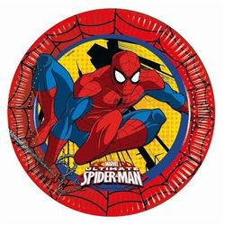 Talerzyki urodzinowe ultimate spiderman power - 23 cm - 8 szt. marki Procos
