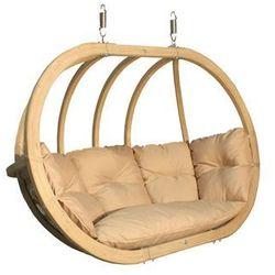 Fotel hamakowy drewniany, cappuccino Swing Chair Double (2)